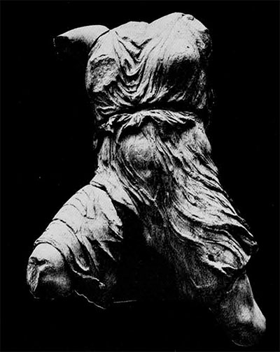 Figure of Iris from the West pediment of the Parthenon.