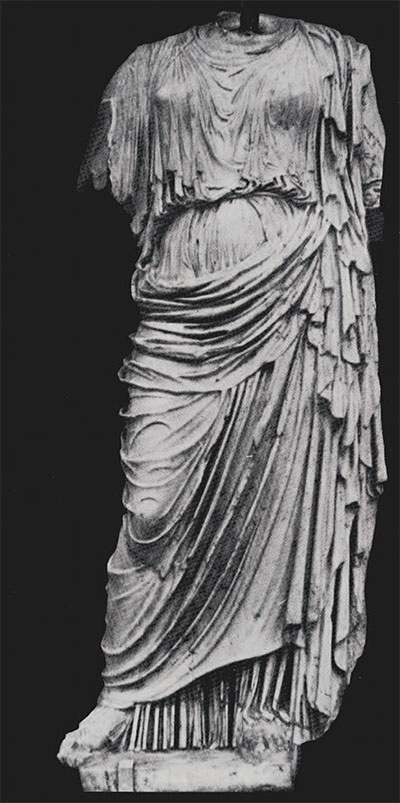 Copy of the statue of Nemesis of Agorakritos in the Ny Carisberg Glyptothek, Copenhagen.