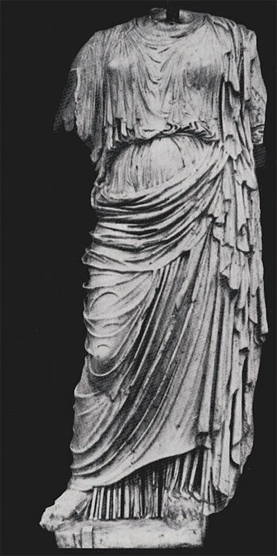 Copy of the statue of Nemesis of Agorakritos in the Ny Carisberg Glyptothek, Copenhagen.