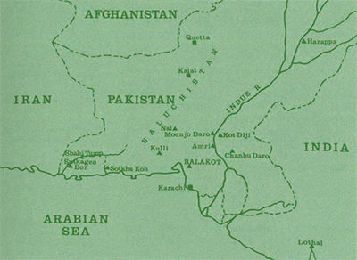 General map of Pakistan and surrounding countries.