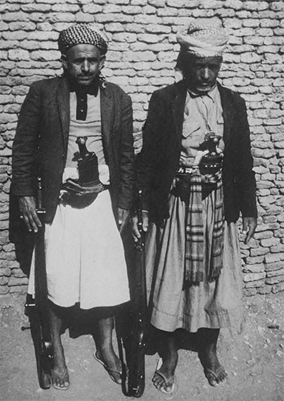 Two Yemeni villagers in Zabid.