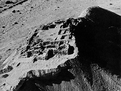 Aerial view of the excavations as seen from the east