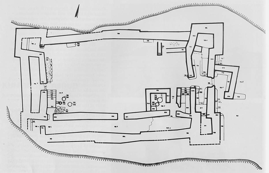 Plan of the main building