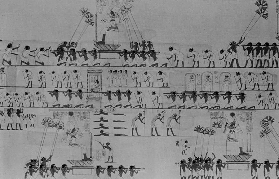 Restored processional scene from an Aten temple