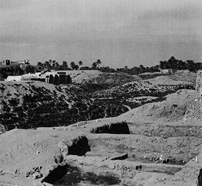View of the Karnak excavations
