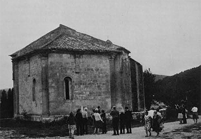 This medieval church near Vaison-la-Romaine, France was one of the highlights of a 1972 Women's Committee tour which focused on medieval Europe. Photo by Kenneth D. Matthews.