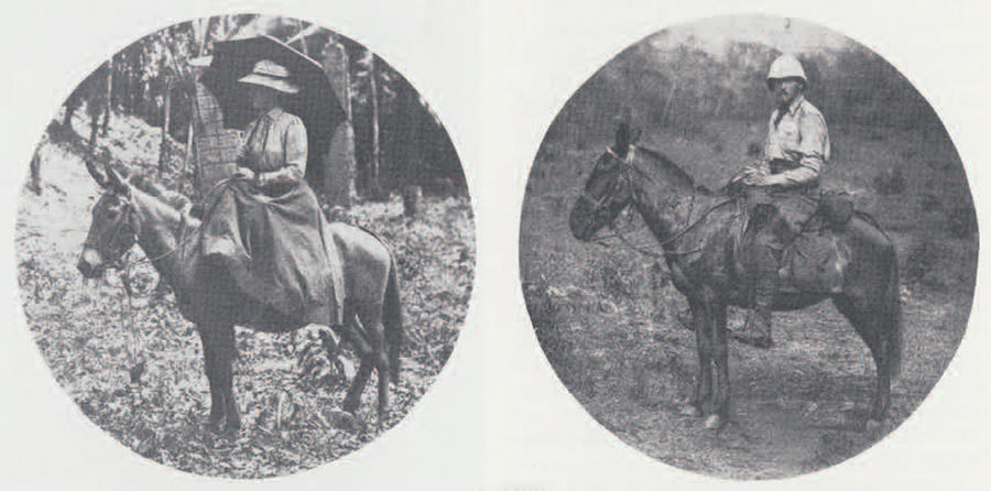 Anne Cary Maudslay and Alfred Maudslay on their 1894 journey to Central America. (Photograph from A Glimpse at Guatemala, 1899)