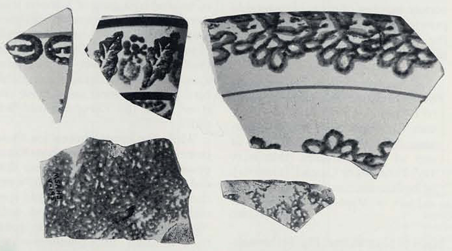Documentary evidence and artifacts, like these fragments of European stamp and sponge-ware ceramics recovered from the Galways slave village, indicate that slaves were able to make purchases with cash. Much of this cash was probably earned from the sale of garden produce.