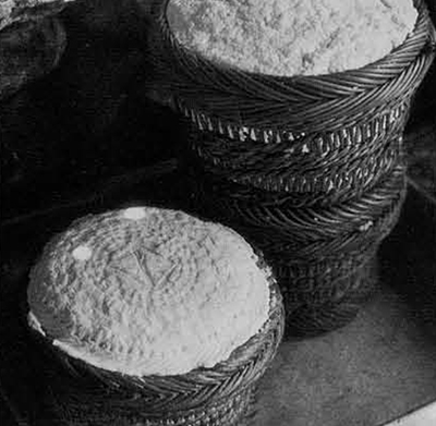 Figure 12. Detail of Basket patterns on the finished pressed cheese.