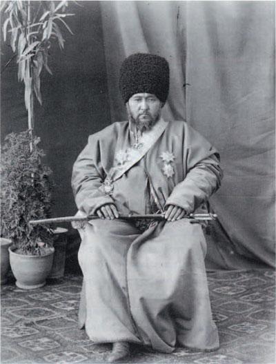 Said Mahomet Rachim Bochadud, Khan of the tribal district of Khiva, Uzbekistan. Photo by Bolojinsky