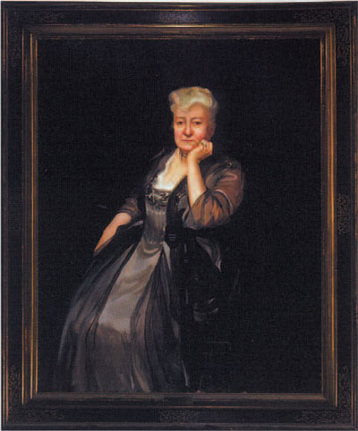 Sara Yorke Stevenson is shown here in 1917, in a portrait painted by Leopold Seyffert for her 70th birthday.