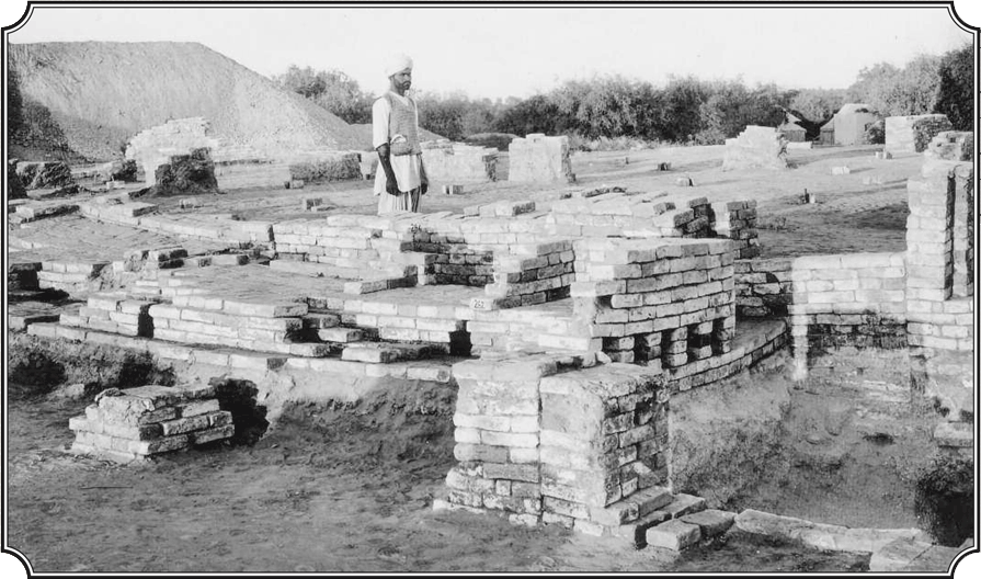 The kiln found at Chanhu-daro by Mackay. This was in a craft area of the site and was used for the manufacture of stamp seals and the preparation of carnelian.