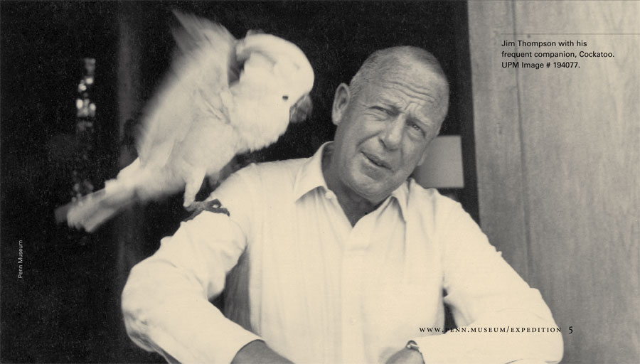 Jim Johnson with his frequent companion, Cockatoo. Museum Image Number: 194077