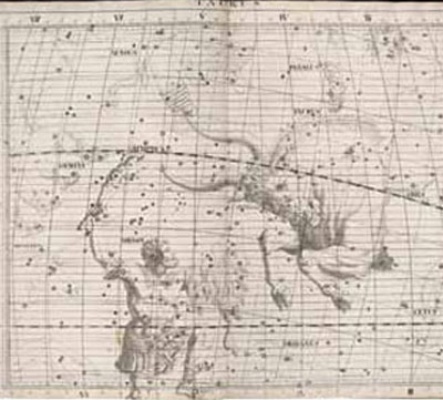 A 1729 illustration by Sir James Thornhill depicts the Taurus Constellation.