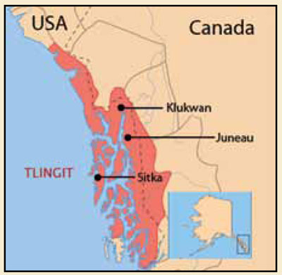 Klukwan is located near Haines in southeast Alaska.
