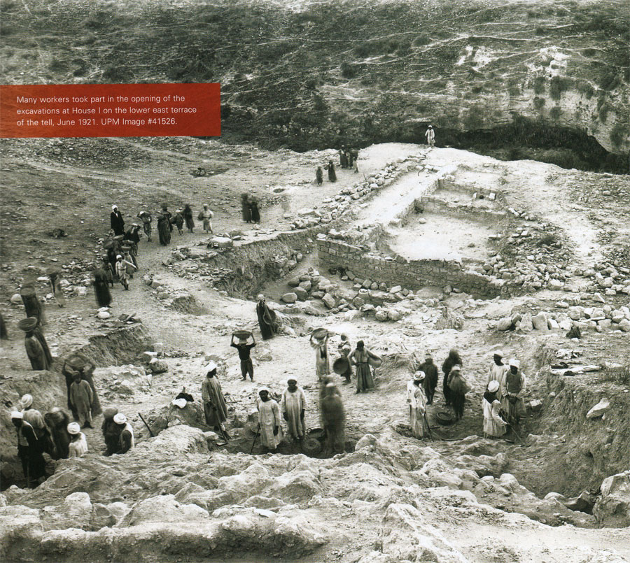 Many workers took part in the opening of the excavations at House I on the lower east terrace of the tell, June 1921.