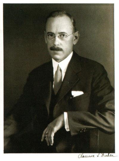 Clarence Fisher appears in a studio portrait taken in 1921. Philips Studio, Penn Museum Image: 140198