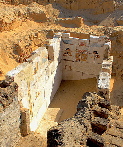 The painted burial chamber of king Senebkay (ca. 1650 Bce) was discovered in January 2014.