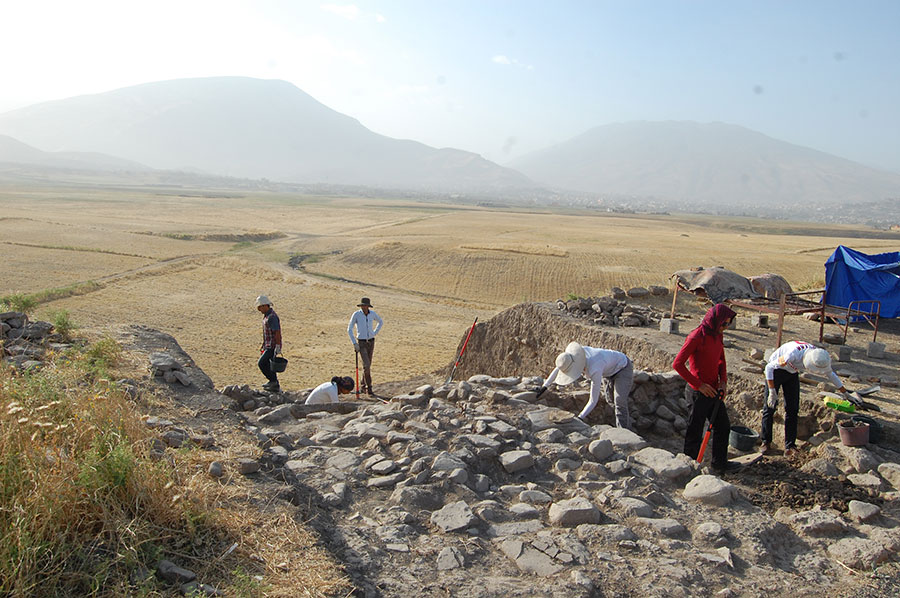 Excavations revealed a sequence of fortifications at the site.