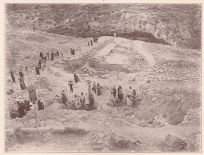 Fig. 16 Beginning the Excavation of the Citadel of Beth-shean.