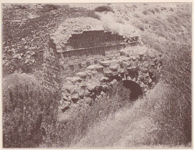 Fig. 18.  Roman Vault that carried the Wall of Beth-shean over the River Jalûd.