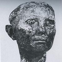 """Photo from Heinrich Drerup, """"Totenmaske und Ahnenbild bei den Römern,"""" pp. 81-129 (Tafel 49.1) in Mitteilungen des Deutschen Archaeologischen Instituts Roemische Abteilung, Volume 87, 1980"""