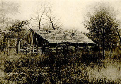 Fig.34-Ceremonial Lodge of the Delawares in Oklahoma.