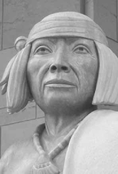 The leader of the Pueblo Revolt of 1680 was Popé. His statue can be seen at Ohkay Owingeh, New Mexico and in National Statuary Hall in the U.S. Capitol Building, Washington, DC . Photo by Joseph R. Aguilar.