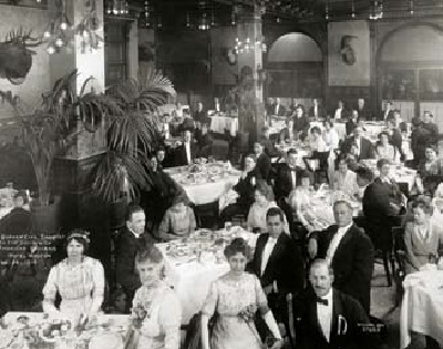A century ago, in February 1914, Native activists and non-Indian allies gathered at the Hotel Walton in Philadelphia for a banquet organized by the Society of American Indians (SAI), the first national pan-Indian political organization in the United States. Photo courtesy of the National Archives, photograph number RG75-M-3.