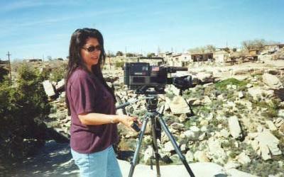 Talahongva videotaping on location in 2000.