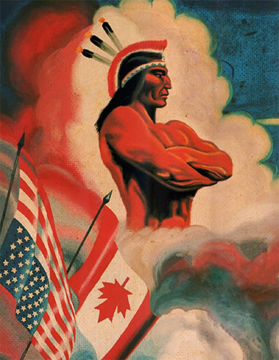 Details from an American Indian Movement Poster (AIM).