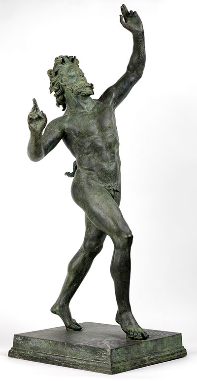 Faun from the House of the Faun, Pompeii. Bronze reproduction, UPM object #MS 3820