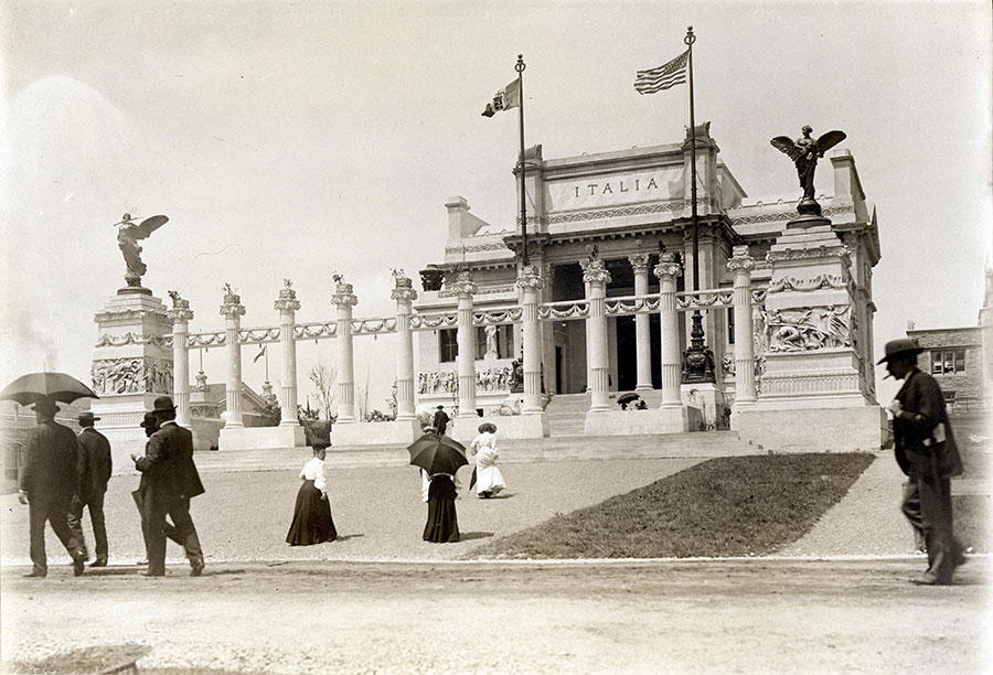 The Royal Italian Pavilion, St. Louis World's Fair. Photo courtesy Missouri History Museum, St. Louis.