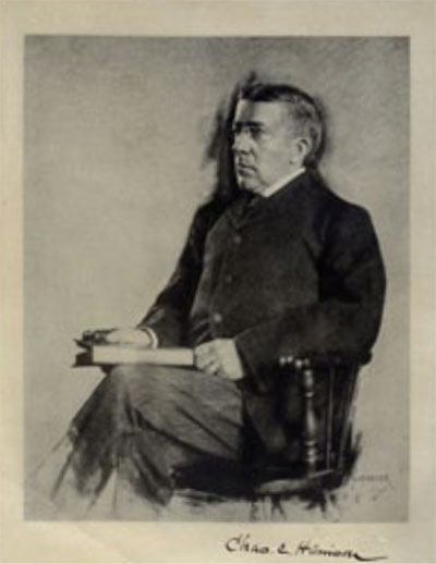 Charles Custis Harrison (1844–1929) in a drawing by Chas. Haseler.