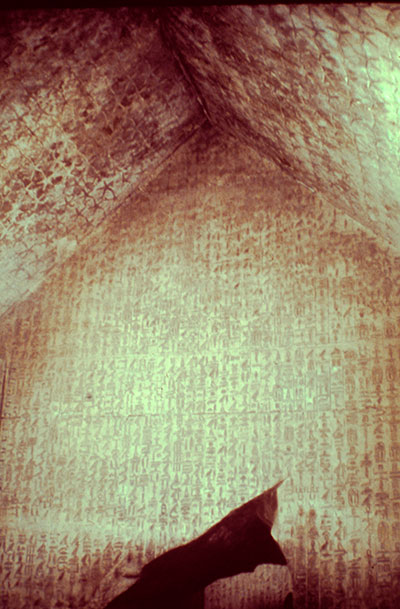Inside the monument, the Pyramid Texts survive in a nearly pristine state.