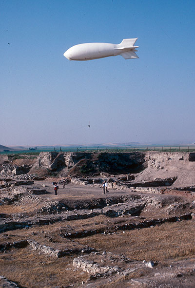 n 1989, Gordion aerial photography was conducted by Wilson and Eleanor Myers using a blimp. Gordion Archive image #001_0016.