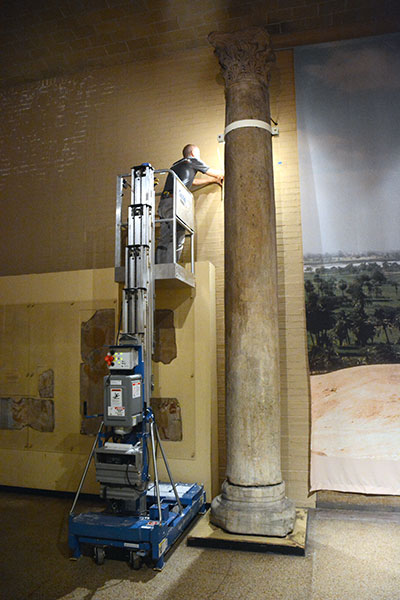Vibration monitors are installed in the 1st floor Egypt (Sphinx) Gallery.