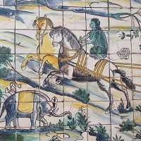Photo of tile- monkey riding a horse