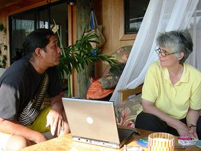 Photo of Herbert Poepoe and Dr. Janet Monge