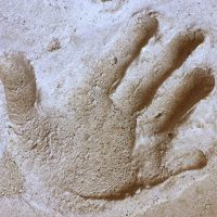 handprint in cement
