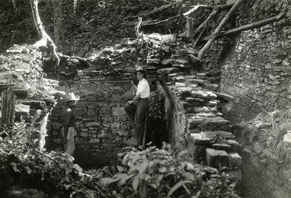 photo of Tatiana on excavation site