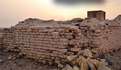 Photo of brick homes