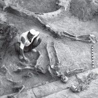 Photo of skeletons in hasanlu
