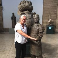 """Jane with a """"Terracotta Warrior"""
