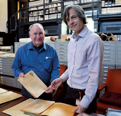 Alessandro and Hans in the archives