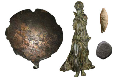 Several museum objects