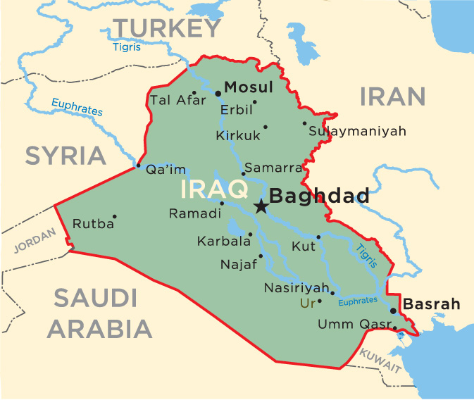 Iraq-with-Ur-site-and-cities- ... MAP OF IRAQ