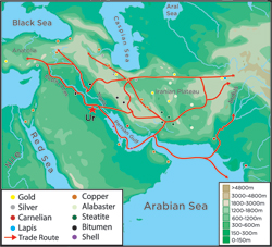 Early Mesopotamian Trade Routes