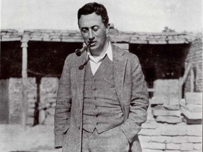 Portrait of Leon Legrain in the field