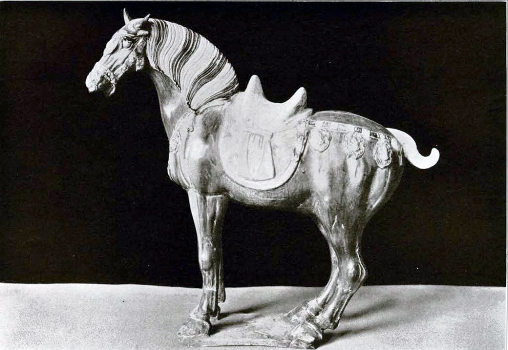 Figure of a horse with a saddle